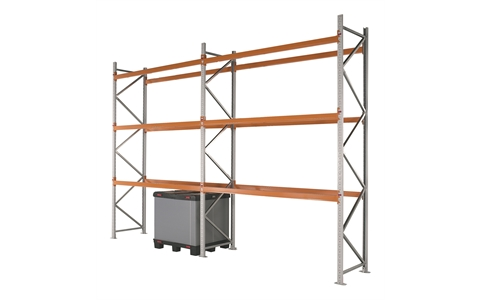 Apex Pallet Racking Starter & Extension Bays - 2 Beam levels per bay - 12 pallet spaces - H3000mm x D1100mm x W2300mm - Bay capacity of 8000kg with 2000kg UDL per pair (beams)